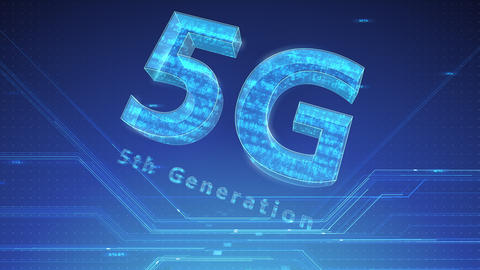 5G Digital Network technology 5th generation mobile communication concept background 47 blue 2 Animation