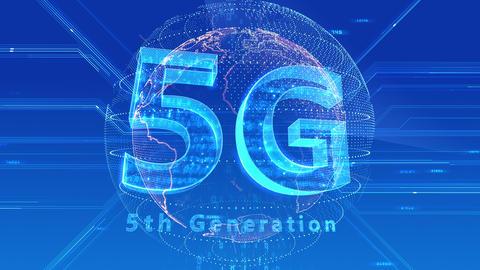 5G Digital Network technology 5th generation mobile communication concept background 47 blue 3 Animation