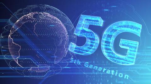 5G Digital Network technology 5th generation mobile communication concept background 47 blue 3b Animation
