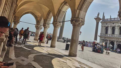 Hyper lapse of view of San Marco square in Venice, Italy 6 Live Action