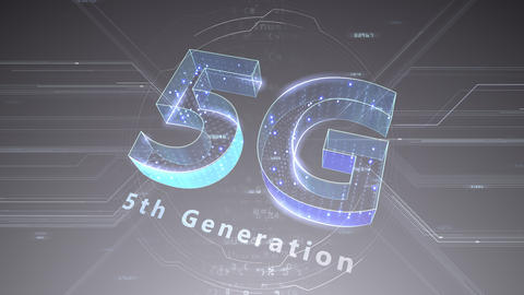 5G Digital Network technology 5th generation mobile communication concept background 47 gray 2 Animation
