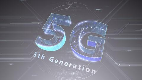 5G Digital Network technology 5th generation mobile communication concept background 47 gray 2 CG動画