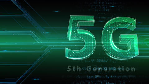 5G Digital Network technology 5th generation mobile communication concept background 47 green 1 Animation