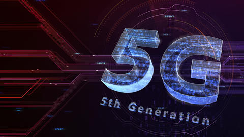 5G Digital Network technology 5th generation mobile communication concept background 47 red 1 Animation