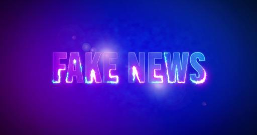 Fake News. Electric lightning words. Logotype Animation