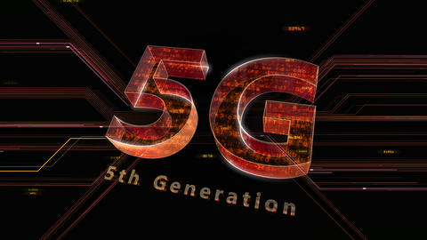 5G Digital Network technology 5th generation mobile communication concept background 47 red 2 Animation