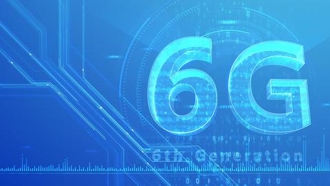 6G Digital Network technology 6th generation mobile communication concept background 47 blue 1 Animation