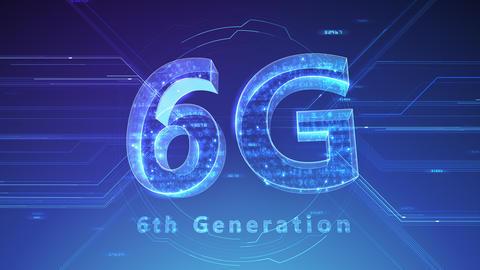 6G Digital Network technology 6th generation mobile communication concept background 47 blue 2 Animation