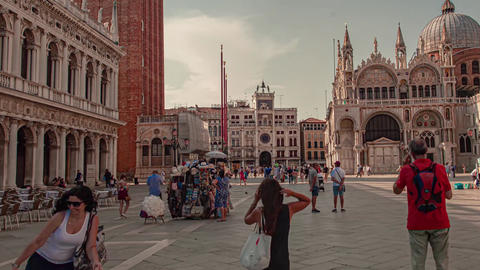 Hyper lapse of view of San Marco square in Venice, Italy 3 Live Action