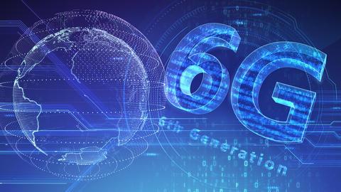 6G Digital Network technology 6th generation mobile communication concept background 47 blue 3 Animation