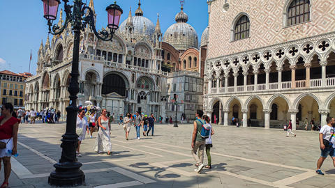 Hyper lapse of view of San Marco square in Venice, Italy 7 Live Action