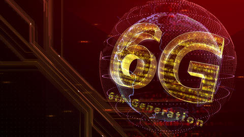 6G Digital Network technology 6th generation mobile communication concept background 47 red 3 Animation