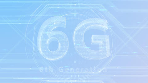 6G Digital Network technology 6th generation mobile communication concept background 47 gray 2 Animation