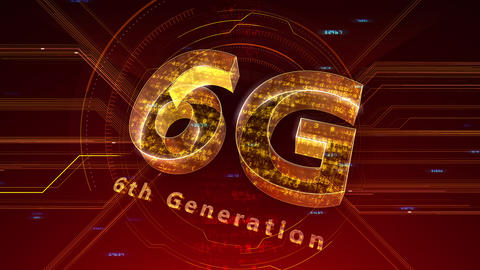 6G Digital Network technology 6th generation mobile communication concept background 47 red 2 Animation