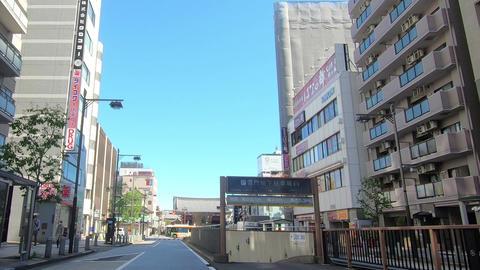 Crossroads of famous tourist destinations in Japan Live Action