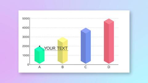 アイソメトリック 棒グラフ After Effectsテンプレート