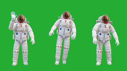 Astronaut motion graphics with green screen background Animation