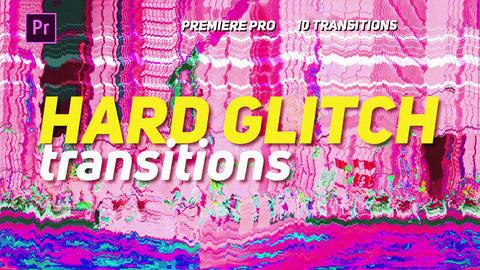 Hard Glitch Transitions Premiere Proエフェクトプリセット