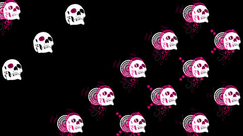 LRV_skulls09 Stock Video Footage