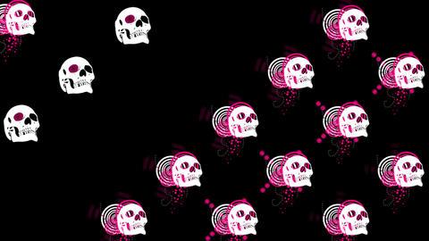 LRV_skulls09 Stock Video Footage