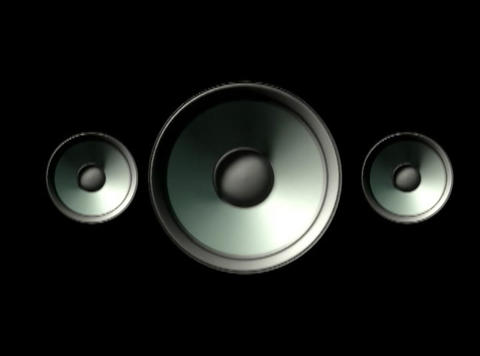 Three plain speakers CG動画