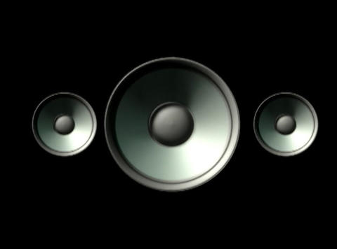 Three plain speakers Stock Video Footage