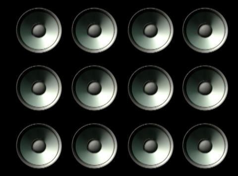 Speaker Grid Stock Video Footage
