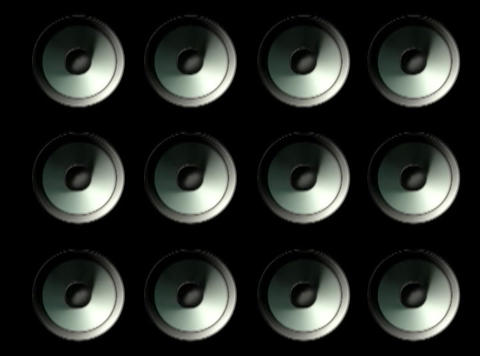 Speaker Grid Stock Video Footage