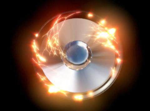 Speaker 2 chrome rays Stock Video Footage