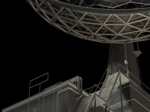 Radio Telescope Loop2 Stock Video Footage