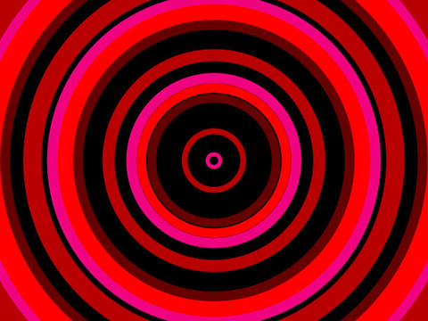Radio Circles Red Warm Animation