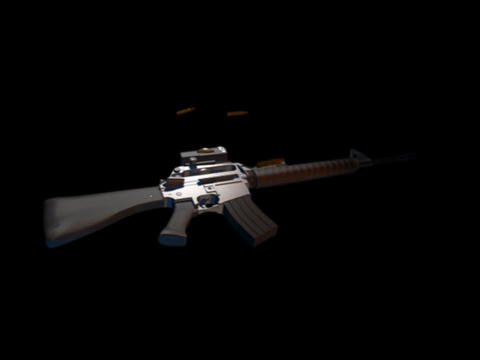 gun m16 b Stock Video Footage