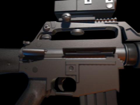 Rifle gun M16 f Stock Video Footage