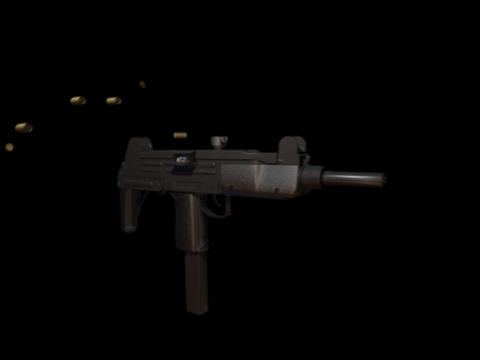 Machine gun UZI b Stock Video Footage