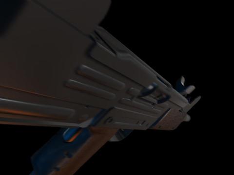 Machine gun UZI d Stock Video Footage