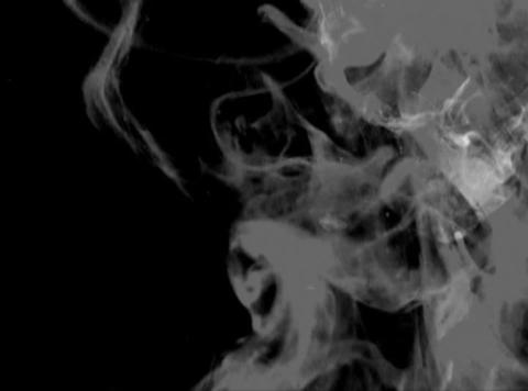 Smokey BW fluids(L) Stock Video Footage