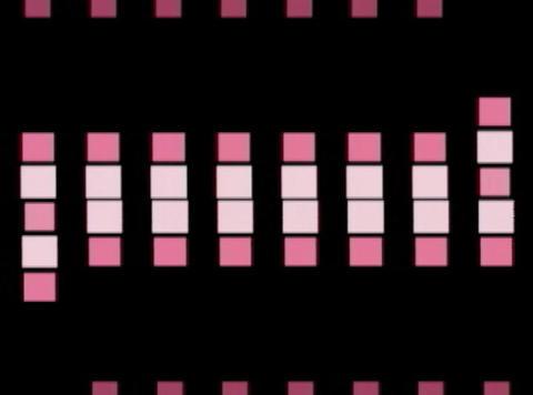 5 purp Cube pulse(L) Stock Video Footage