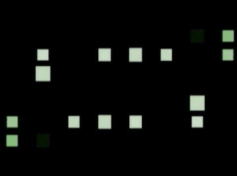blue fold cube pulse(L) Stock Video Footage
