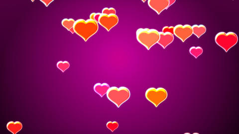 Falling hearts Stock Video Footage