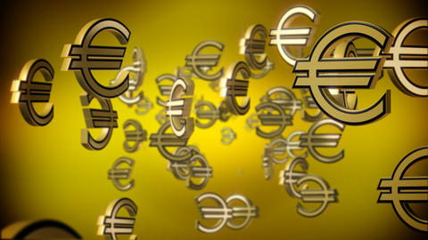 Falling euro signs Stock Video Footage