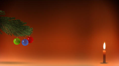 Christmas tree with candle Stock Video Footage