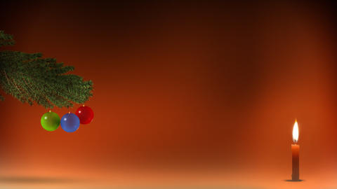 Christmas tree with candle Animation