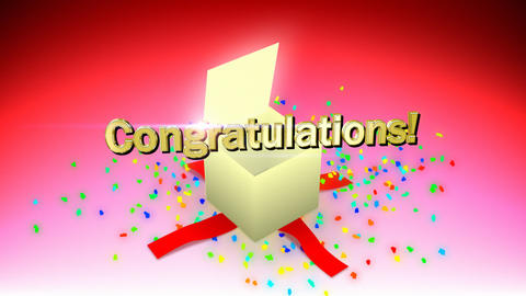 Congratulations box Stock Video Footage