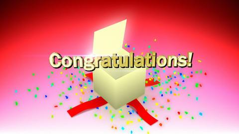Congratulations box Stock Video Footage