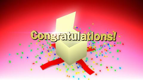 Congratulations box Animation
