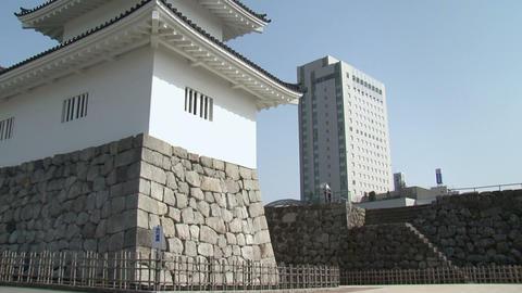 Toyama / Azumi Castle Tilt 1 富山 安住城 チルト Stock Video Footage