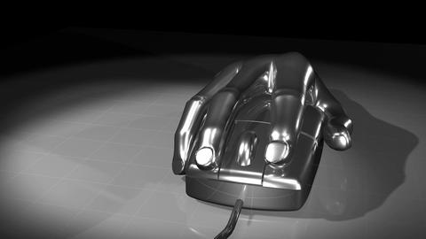 Mouse Hand Chrome. Loop. HD Animation