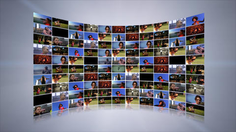 Video Wall Stock Video Footage