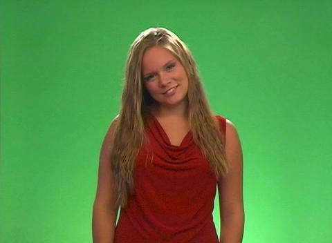 "Beautiful Teen Blonde Says ""Aaawww"" Stock Video Footage"