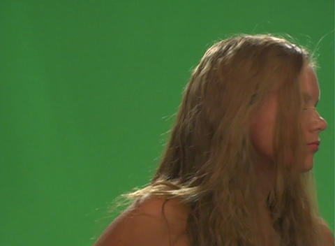 Beautiful Teen Blonde with a Blow Dryer-2 Stock Video Footage